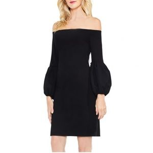 Vince Camuto Off the Shoulder Bubble Sleeve Dress